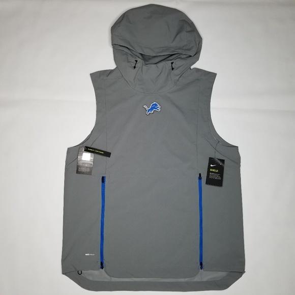 sports shoes d698c 9316e Detroit Lions Nike Shield Vest Light Jacket L NWT